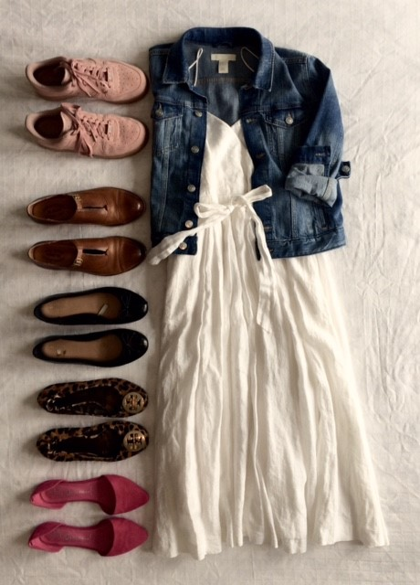 dress and all the shoes